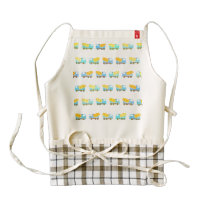 Toy truck pattern zazzle HEART apron