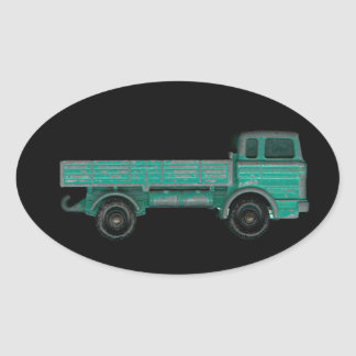 Toy truck photo vintage flatbed for movers haulers stickers