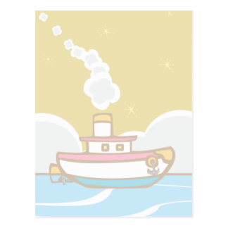 Toy Tug Boat Postcard