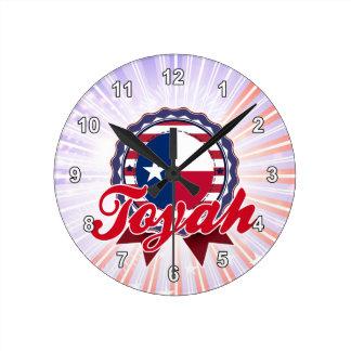 Toyah, TX Round Wallclock