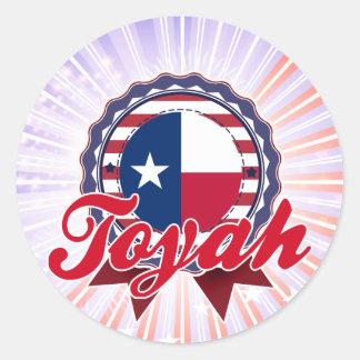 Toyah, TX Round Stickers