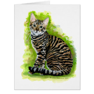 Toyger Large Greeting Card