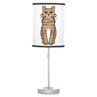 Toyger Cat Cartoon Desk Lamps