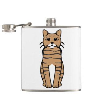 Toyger Cat Cartoon Flasks