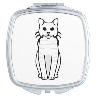 Toyger Cat Cartoon Mirror For Makeup
