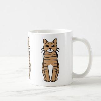 Toyger Cat Cartoon Coffee Mug