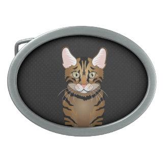Toyger Cat Cartoon Paws Belt Buckle