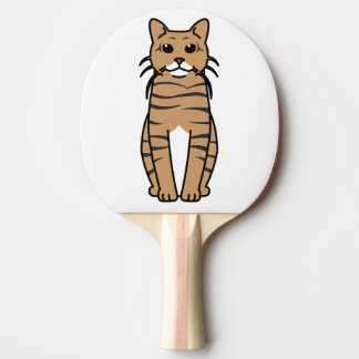 Toyger Cat Cartoon Ping-Pong Paddle