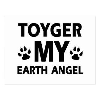 Toyger  cat design postcard