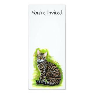 Toyger 4x9.25 Paper Invitation Card