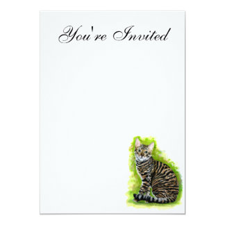 Toyger 5x7 Paper Invitation Card