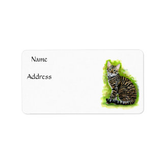 Toyger Personalized Address Labels