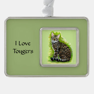 Toyger Silver Plated Framed Ornament