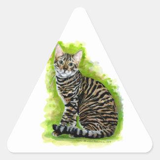 Toyger Triangle Sticker