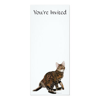 Toyger Turning 4x9.25 Paper Invitation Card