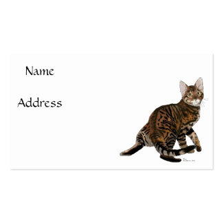 Toyger Turning Double-Sided Standard Business Cards (Pack Of 100)