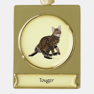 Toyger Turning Gold Plated Banner Ornament