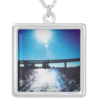Toyko, Japan Square Pendant Necklace