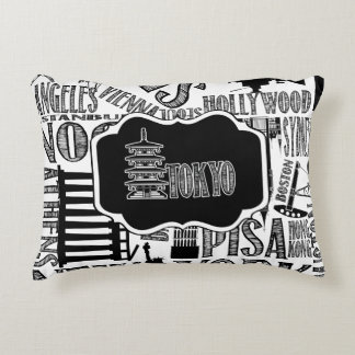 Toyko Pillow, Black and White Accent Pillow