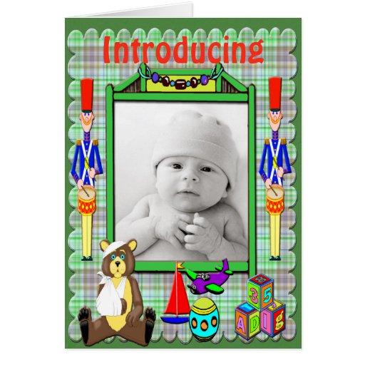 Toyland Birth Announcement Card