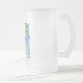 TOYMAKER 2000 FROSTED GLASS BEER MUG