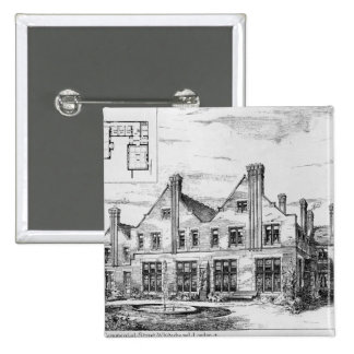 Toynbee Hall 2 Inch Square Button