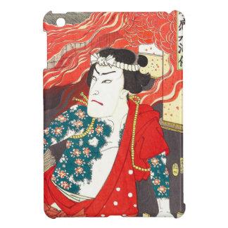 Toyohara Kunichika Kabuki - bombero tatuado