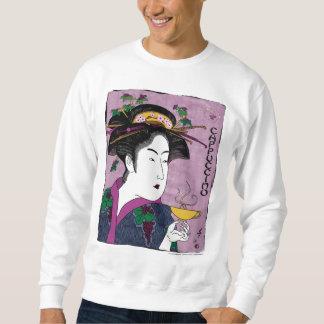 toyokuni's cappuccino #2 (white) sweatshirt