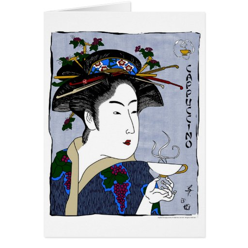 toyokuni's cappuccino greeting cards