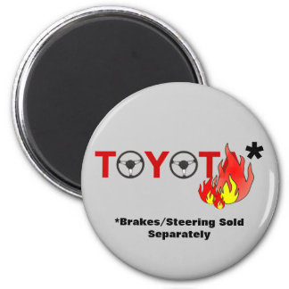 Toyota: Brakes/Steering Sold Separately 2 Inch Round Magnet