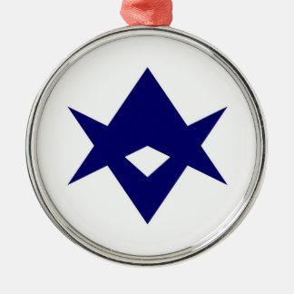 Toyota city flag Ibaraki prefecture japan symbol Metal Ornament