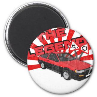 Toyota Corolla AE86 2 Inch Round Magnet