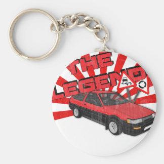 Toyota Corolla AE86 Basic Round Button Keychain