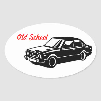toyota corolla Te31 Old School Oval Sticker