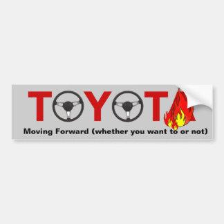 Toyota: Mudanza adelante Pegatina Para Auto