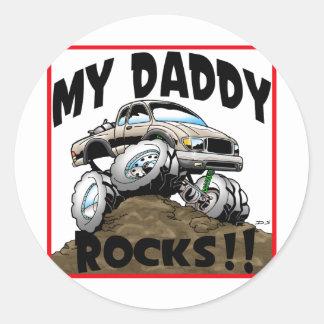 Toyota My Daddy Rocks Classic Round Sticker