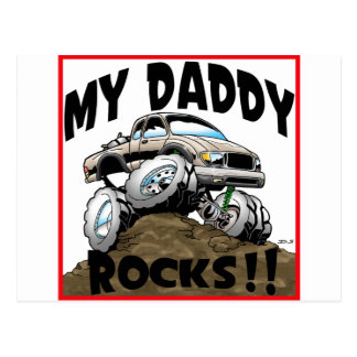 Toyota My Daddy Rocks Postcard
