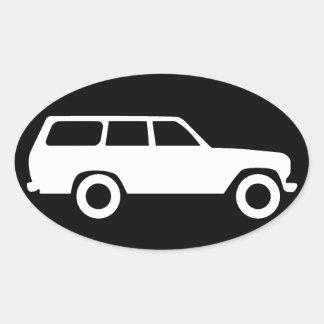 Toyota oval aterriza el crucero el pegatina B del