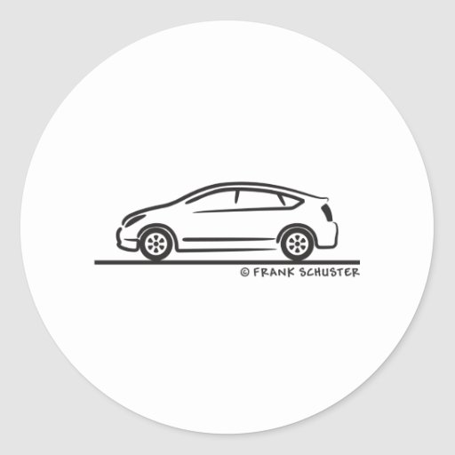 Toyota Prius Round Stickers
