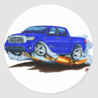 Toyota Tundra Crewmax Blue Truck Round Stickers