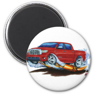 Toyota Tundra Crewmax Red Truck 2 Inch Round Magnet