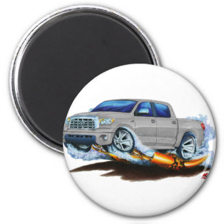 Toyota Tundra Crewmax Silver Truck 2 Inch Round Magnet