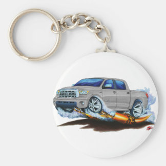Toyota Tundra Crewmax Silver Truck Keychains