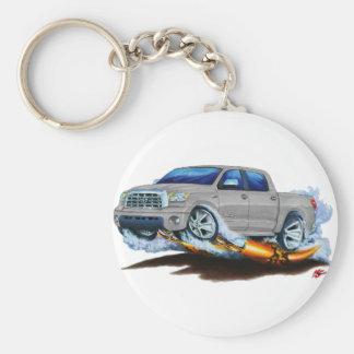 Toyota Tundra Crewmax Silver Truck Keychain