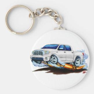 Toyota Tundra Crewmax White Truck Keychain