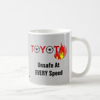 Toyota: Unsafe At EVERY Speed Classic White Coffee Mug