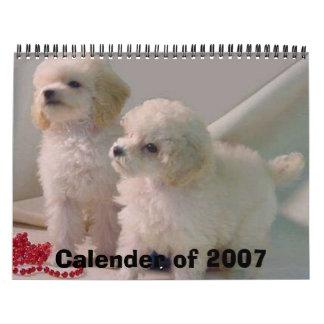 TOYPOODLEPUPStwo_pups1b 1 Calender of 2007 Wall Calendars