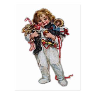 Toys At Christmas Postcard