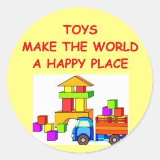 toys classic round sticker