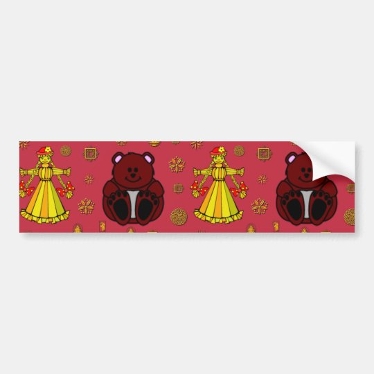 Toys – Golden Dolls & Chocolate Teddy Bears Bumper Sticker